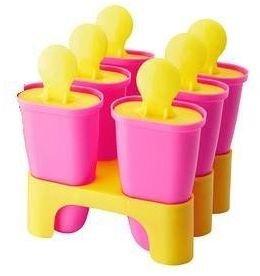 CHOSIGT Ice Lolly Lollipop Espressokocher, Für 6 Lollies., Erhältlich in Rosa oder Blau rose