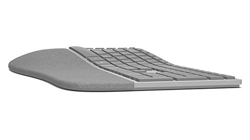 Microsoft Surface Ergonomic Bluetooth grau Tastatur – Tastaturen (Bluetooth, Universal, kabellos, PC/Server, Standard, gebogener)