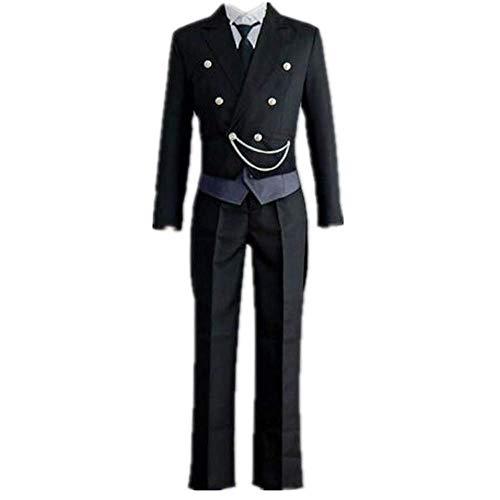 MLYWD Cosplay Kostüm Halloween Maskerade Schwarzer Butler Sebastian · Michaelis Tägliche Kostümanzüge mit Zubehör Unisex Adult