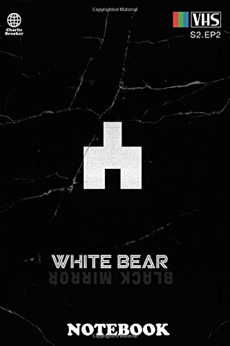 Notebook: White Bear , Journal for Writing, College Ruled Size 6