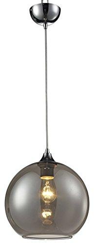 Lampex 305/C bolla C–Lampada a sospensione, metallo, argento, E27