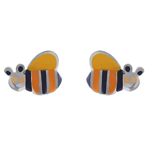 Pendientes infantiles de abeja de plata 925 – nuevos