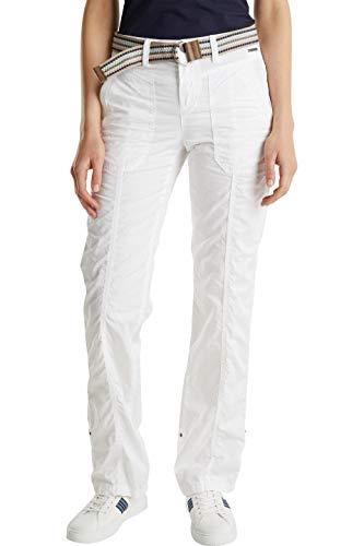 ESPRIT Damen 030EE1B313 Hose, 100/WHITE, 38W / 30L