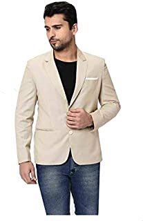 Oshano Mens Casual Blazer Slim fit Long Sleeve Jacket Casual Suits Blazer Jackets OSHN_Blazer_Cream