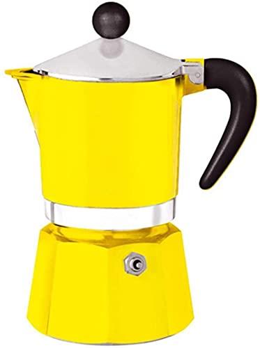 MXCHEN Olla para moca Café para el hogar Cafetera para moca Cafetera para expreso Olla para café hecha en casa Mocha (Color: Morado, Tamaño: 6 tazas)