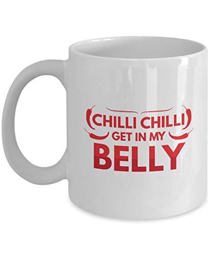 N\A Regalos para fanáticos de la Salsa de Chile: Salsa de Chile, Salsa Picante, Picante, pimientos picantes, Taza Blanca, Taza de café de cerámica