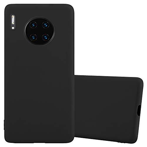 Cadorabo Hülle für Huawei Mate 30 PRO in Candy SCHWARZ - Handyhülle aus flexiblem TPU Silikon - Silikonhülle Schutzhülle Ultra Slim Soft Back Cover Hülle Bumper