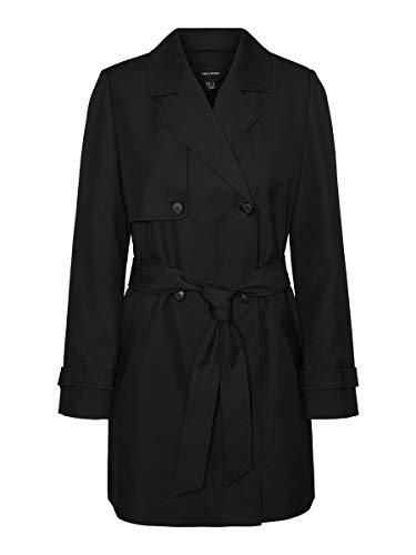 VERO MODA Damen VMCELESTE 3/4 COL Trenchcoat, Black, S