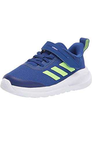 adidas Fortarun Elastic Cross Trainer, Team Royal Blue/White/Signal Green, 2.5 US Unisex Little Kid