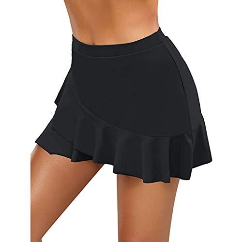 MianYaLi Bikini de Cintura Alta con Fruncido para Mujer,Mujer Shorts de Baño,Mujer Playa Falda Corta Trajes de Baño Bañador Deportivo Traje de Baño Bañador de natación Falda Bikini para Mujer