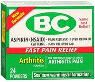 BC Arthritis Formula Pain Reliever Powder, 24 each (Pack of 2)