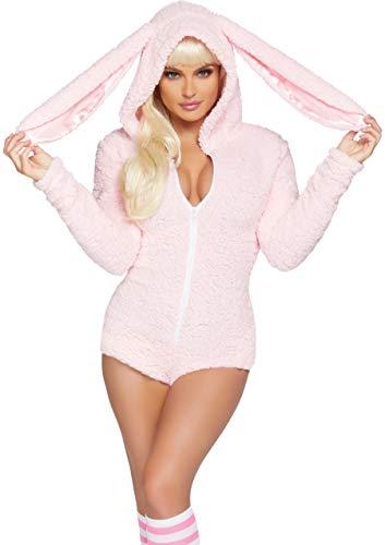 Leg Avenue Women's Cuddle Bunny Costume, Large