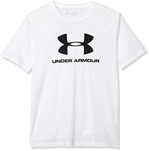 Under Armour Herren T-Shirt Sportstyle Kurzarm-Oberteil mit Logo, Weiß, XXL, OBER-77_1329590_100_XXL