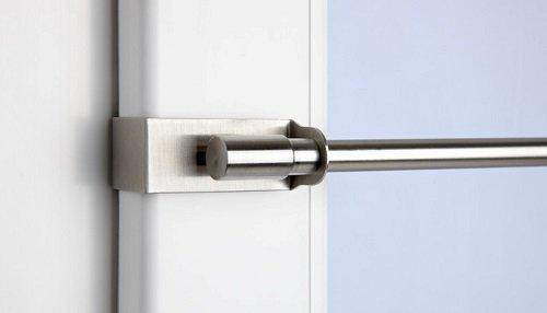 cg-sonnenschutz Klemmstange Easy Fix Edelstahl-Optik ausziehbar 45-75cm oder 75-125cm ohne Bohren Vitrage zum Klemmen Klemmstange (75-125 cm)