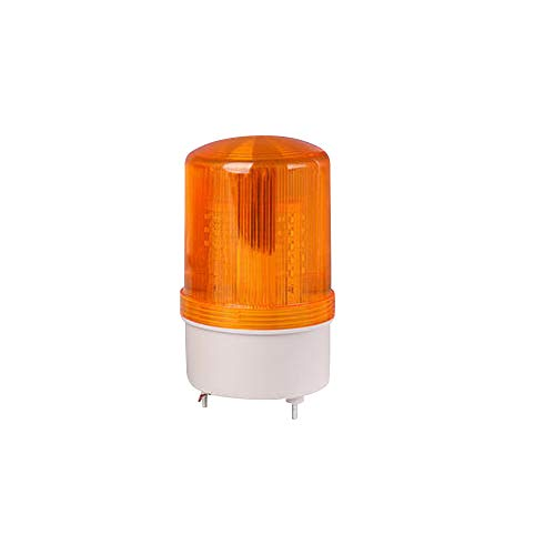 Othmro Warning Light Bulb Industrial Signal Tower Lamp Plastic Electronic Parts Flashing with Sound 90dB 220V 10w LTE1101J Yellow 1pcs