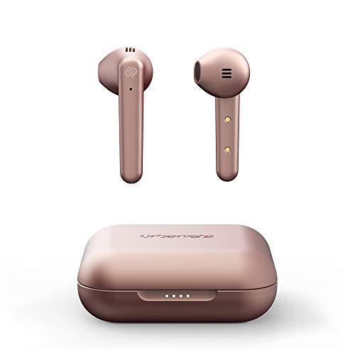 Urbanista Stockholm Plus Auricolari Wireless - più di 20 Ore di Riproduzione, Cuffie Impermeabili IPX4, Auricolari Bluetooth 5.0, Controlli Touch & Microfono Migliorato per chiamate limpide, Rosa