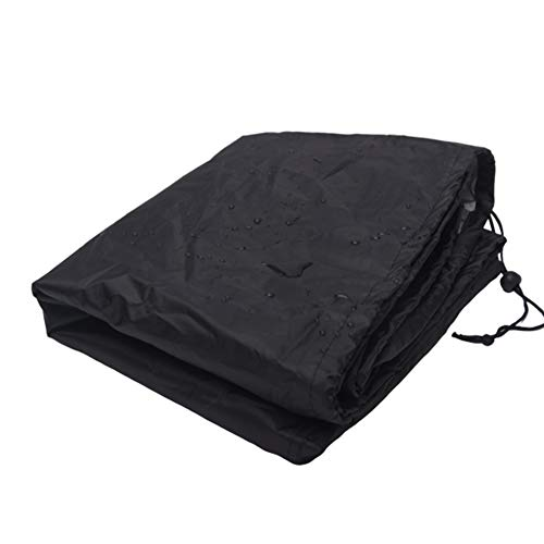 FGHHJ Garden Davenport Cover 2/3/4 Seater Heavy Duty Sofa Cover Long Chair Cover Outdoor Waterproof Anti-UV Patio Rattan Furniture Cover with Storage Bag