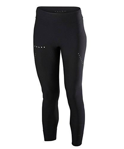 FALKE Damen Tights Cellulite Control 7/8, Laufhose mit Kompression, Shape Legging aus Funktionsfaser, 1 Stück, Leggings Schwarz, Größe L