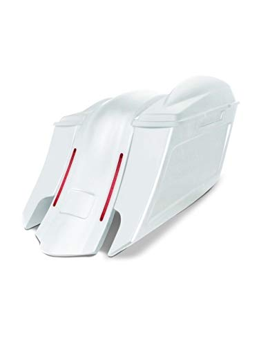 Great Features Of Harley Davidson 6 down and 9 out angle saddlebags and LED overlay fender kit dua...