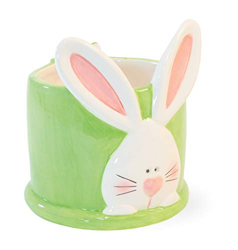 Boston International KAC20030 Easter Ceramic Candy Dish, 4 x4 x 4.5, Bun Bun Bunny