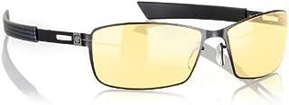 Gunnar Vayper Onyx 黑色高级游戏眼镜,带可调节硅胶鼻垫(电子游戏)