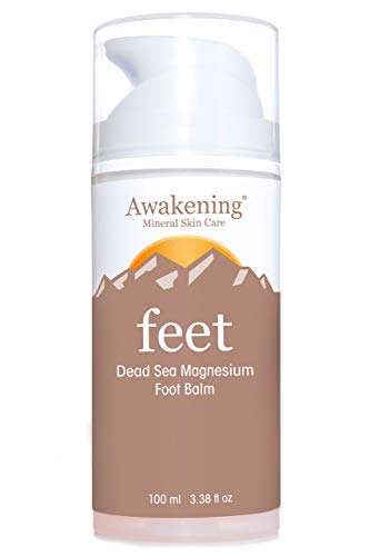 AWAKENING Feet - Magnesium-Rich Hydrating Foot Therapy Balm - Foot Lotion With Arnica and Concentrated Minerals of the Dead Sea for Dry Feet - Airless Pump Magnesium Cream