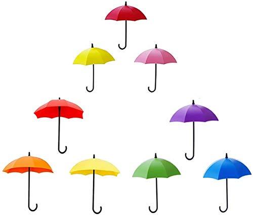 Killow 9 Stück Wand Haken, Regenschirm Haken Selbstklebend Wandhaken Schlüsselaufhänger Selbstklebende Tür Schlüssel Kleidung Haken Halter Regenschirm Dekorative Accessoires Wohnkultur