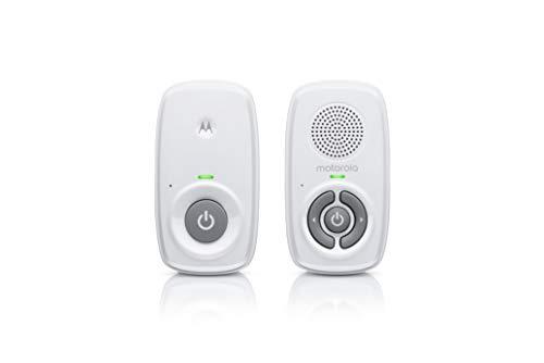Motorola MBP21 Babyphone Audio - Digitales Babyfon mit DECT-Technologie zur Audio-Überwachung - 300 Meter Reichweite - Mikrofon mit hoher Empfindlichkeit – Weiß