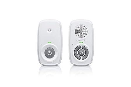 Motorola Baby MBP21 - Vigilabebés de audio (300 metros de alcance, micrófono de alta sensibilidad) color blanco (501278604028)