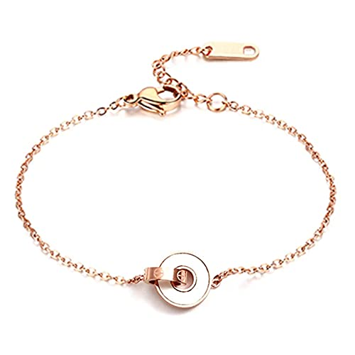 Ringerlet Rose Gold Anklet for Women Circle Shell Beach Adjustable Ankle Bracelets Gift for Girl Summer