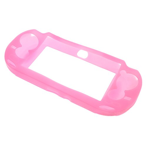 Non-slip Silicone Skin Case Cover for Sony PlayStation PS Vita PSV Game Console Pink