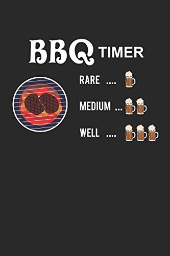 BBQ timer: Notebook with 120 pages, 6 x 9 Zoll and Dot screen