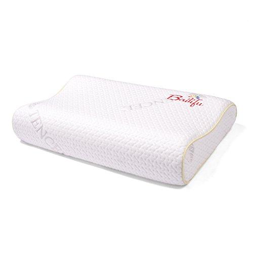 Kinder Latex-Kissen mit Kissenbezug, natürliches und gesundes Kleinkind-Kissen zum Schlafen, weiß, 19,7 x 11,8 x 8,9 cm (geeignet für 3–16 Jahre)