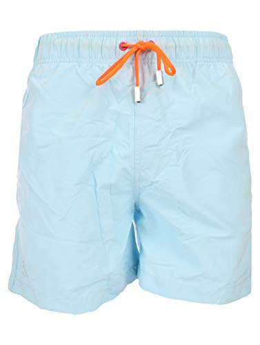 Ramatuelle Badeshorts Herren - Magic Print Badeanzug - Print sichtbar, wenn die Badehose nass Wird - Größe XL - Farbe Blau/Celeste