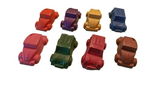 3D Car Shaped Crayons, Set of 8 Non-Toxic Crayons