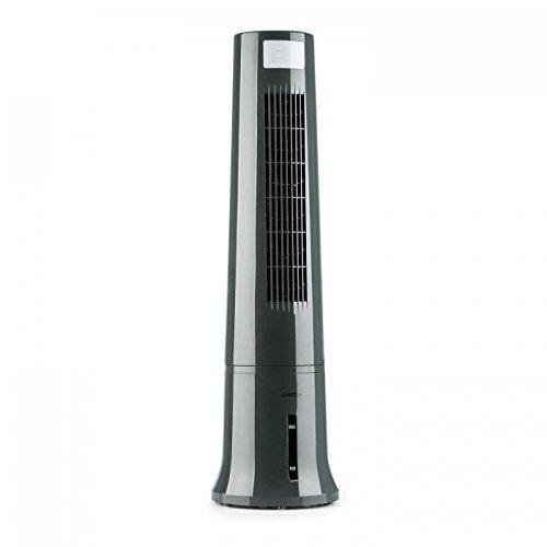 KLARSTEIN Highrise Cool Line - Ventilateur, Rafraîchisseur, Fonction humidificateur, 3 Niveaux de Puissance, Fonction Nettoyage d'air, Humidificateur, 530 m³/h, Gris
