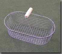 Gartenkorb aus Draht, klein, oval, altverzinkt
