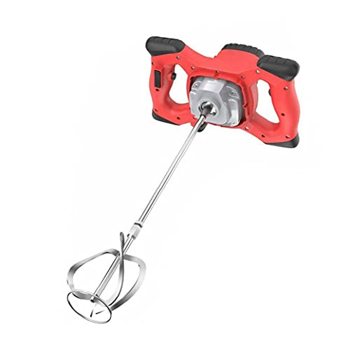 Electric Concrete Cement Plaster Handheld Drill Mixer Stirring Tool 2100W Electric Mortar Mixer Red for Indutrail