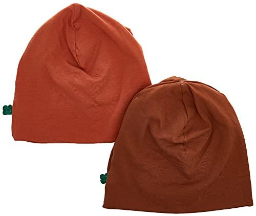 Fred's World by Green Cotton Baby M dchen Alfa Baby 2-pack Beanie Hat, Sienna, 6-12 Monate EU