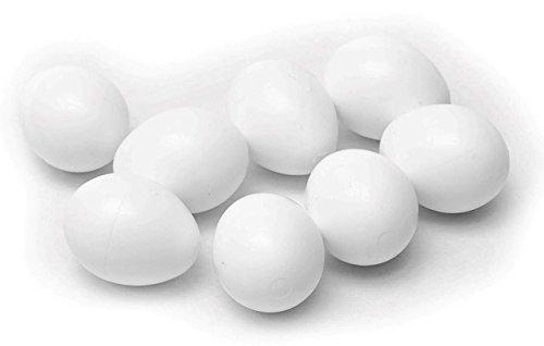 10 Nesteier für Hühner und Enten aus schwerem Kunststoff