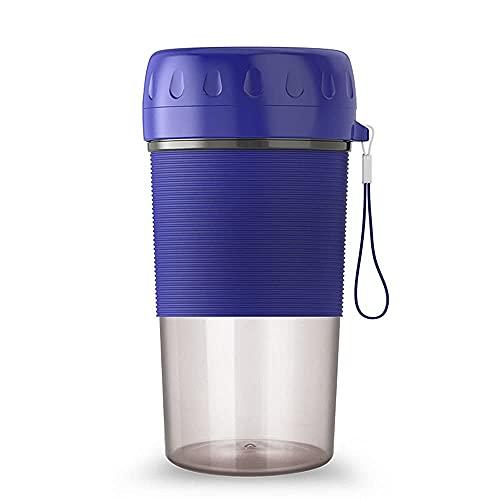LINANNAN Mini Portátil Blender Mezclador eléctrico Orange Juicer Machine Smoothie Blender Cup para el procesador de Alimentos personales Extractor de Jugo (Color: Azul)