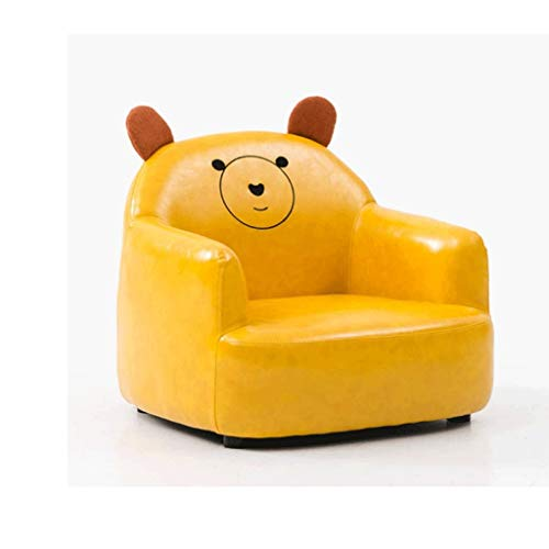 JJZXD Kinder Lehnstuhl, Loungemöbel for Junge Mädchen PU-Leder-Einzelwohn Bett Room Stuhl Kinder Sofa (Color : A)