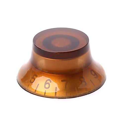 Gjyia 1 st knop knop bel vorm gitaar toon volume controle voor lp gitaar onderdelen koffie gouden