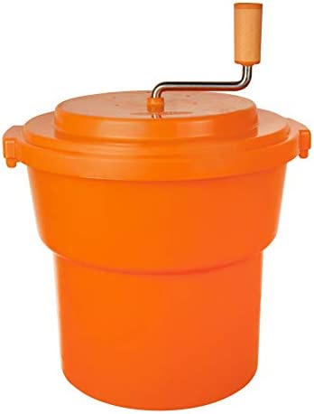 CMI 5 Gal 20 Qt Large Commercial Salad Spinner Jumbo Manual Lettuce Dryer Dries up to 7 Heads product image