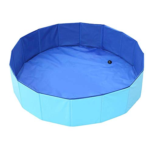 Ardentity Alacritua Pet Cat Dog Swimming Pool, Portable Kiddie Pool for Kids, PVC Bathing Tub, Dog Paddling Pool, Foldable Inflate Outdoor Summer Bath