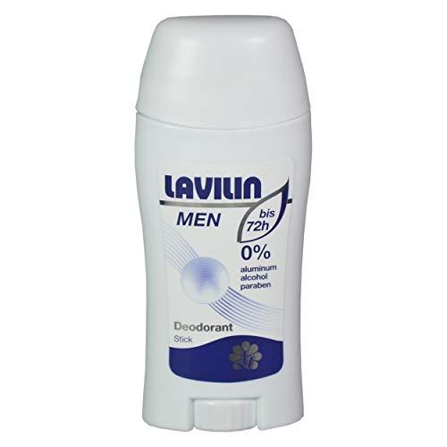 Lavilin Deo Stick für Männer 60 ml, schützt bis 72 Stunden vor Schweissgeruch, Creme ohne Aluminium und Alkohol, mit pflanzlichen Wirkstoffen, wasserresistent und ergiebig