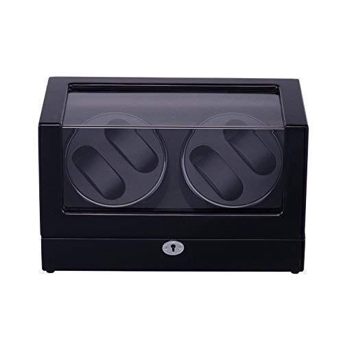 WXDP Enrollador de Reloj automático,Caja enrolladora de automática con 4 Posiciones de 0 Espacios de Almacenamiento 4 Modos para Rolex automático