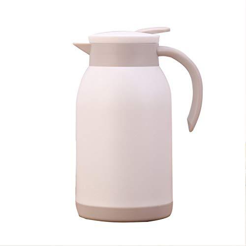 GCDN Jarra térmica de acero inoxidable, doble pared aislada al vacío, jarra de té de retención de calor para el hogar, jarra de té de gran capacidad (blanco)