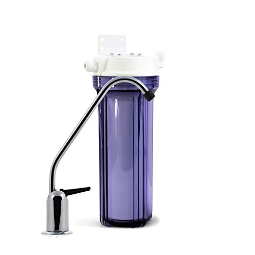 Propur Under Counter Drinking Water Filtration System - Removes 200+ Contaminants Including Fluoride, Lead, Chlorine, Microplastics - Includes 1 ProMax Filter Element - Use in Your Home or Office.