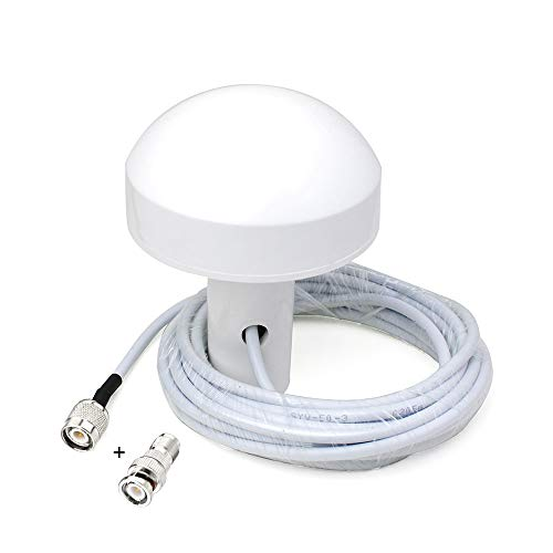 Eightwood Timing actieve GPS-ontvangstantenne GPS signaalversterker 28dB BNC stekker adapter 5m kabel + BNC bus op TNC stekker adapter recht voor Furuno Garmin Icom boot schip GPS GPSMAP MEHRWEG